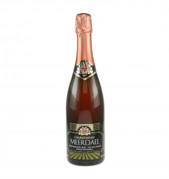 APERO : Fles gekoelde Mousserende wijn Chardonnay Meerdael Rosé 75cl : € 25/fles