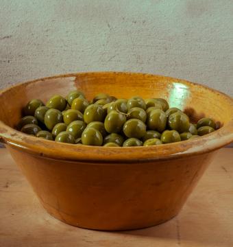 potje groene olijven (Puglia)