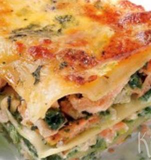lasagne zalm spinazie