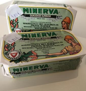 Minerva Makreelfilet met augurken in pikante olijfolie