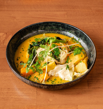 Gele groentencurry