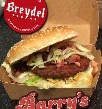 Broodje Breydel Burger met Breydel spek (drive in)