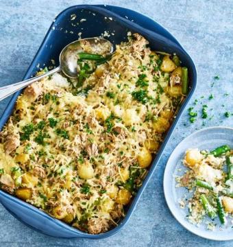 Ovenschotel met tonijn en pasta