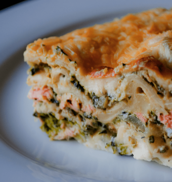 lasagne - zalm - broccoli - wittewijnsaus