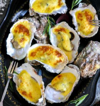 6 gegratineerde oesters